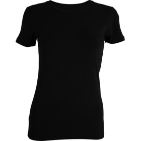 Tufte Wear Crew Neck T-shirt Damer, black beauty